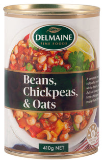 Delmaine Beans, Chickpeas and Oats
