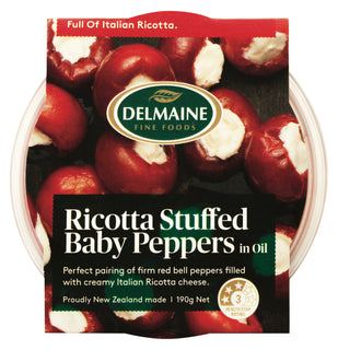 Delmaine Red Peppers Ricotta Stuffed