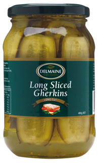 Delmaine Long Sliced Gherkins