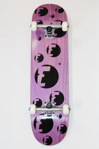 Endless Skateboarding Purple Stained Complete Skateboard