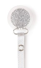 Load image into Gallery viewer, Classy Paci Clear with Silver circle pacifier clip