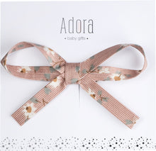 Load image into Gallery viewer, Adora Baby Ribbon Bow Clip- Blush Floral