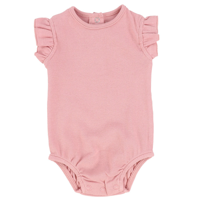 Bee & Dee Blush Ribbed Bubble with Ruffle