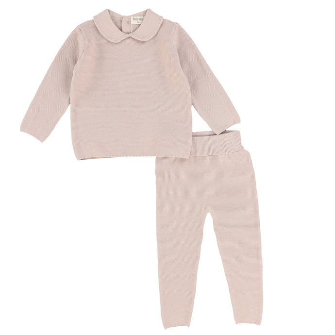 Bee & Dee Knit Camel Peter Pan Two Piece Set