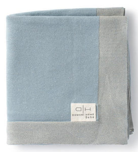 DOMANI HOME CLASSIC BLUE BABY BLANKET