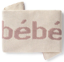 Load image into Gallery viewer, DOMANI HOME BEBE NATURAL/PINK BABY BLANKET