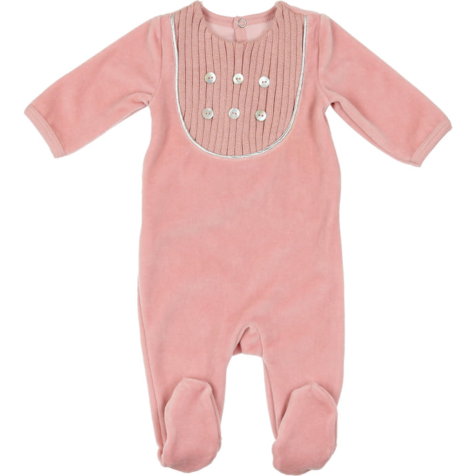 MON TRESOR BEBE BLUSH EMBELLISHED EURO VELOUR STRETCHIE