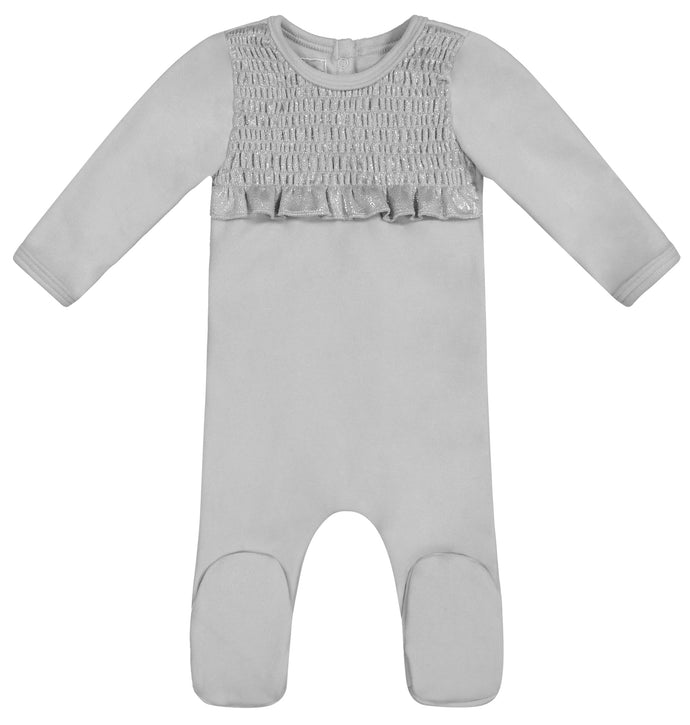 MANIERE GREY SPARKLE SMOCKED STRETCHIE