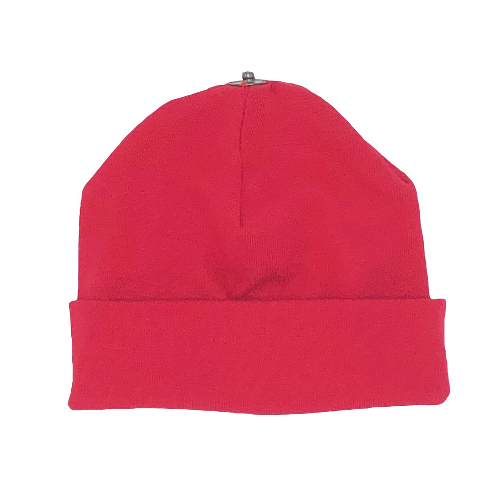 O BELLE RED SNAP ON BABY BEANIE – Belle Tete Baby 5a83cef9b986
