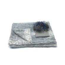 Load image into Gallery viewer, ZANDINO CHARLOTTE SILVER MINKY BLANKET