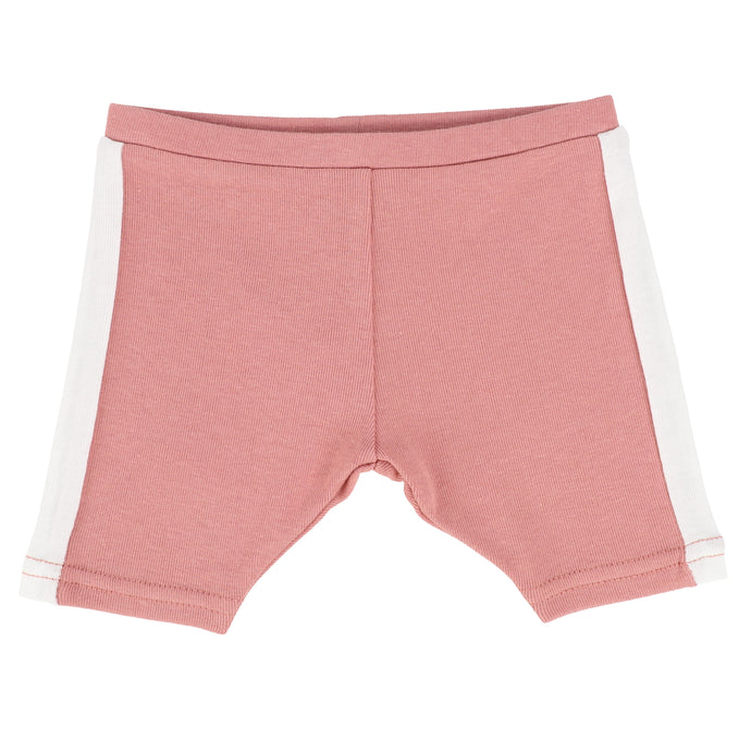 Analogie by Lil Legs Pink/White Linear Shorts