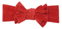 Load image into Gallery viewer, BANDEAU BABY RED RIBBED VELOUR DOUBLE FLOPPY BABY BAND