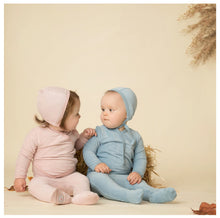 Load image into Gallery viewer, MON TRESOR LIGHT ROSE VICTORIAN WRAP VELOUR LAYETTE SET