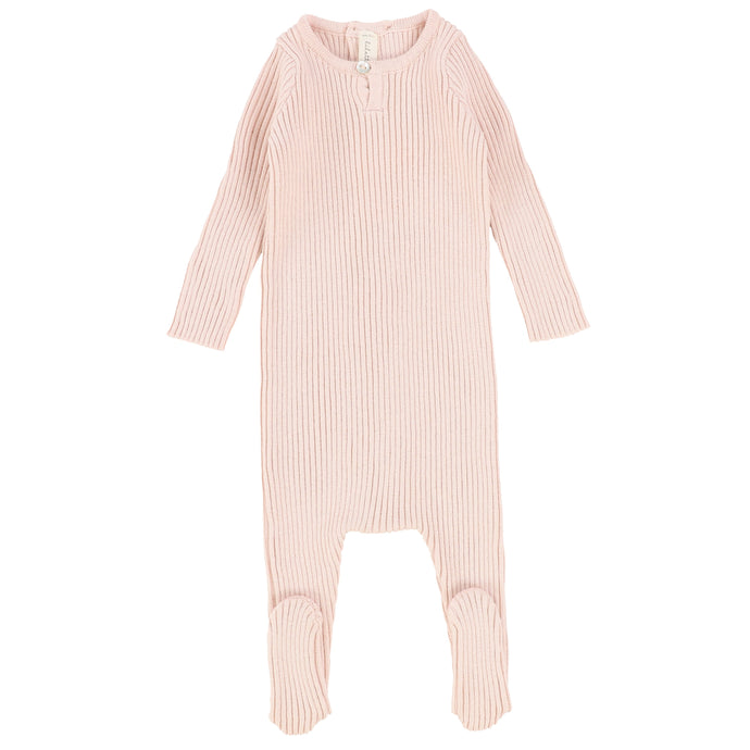 Lilette by Lil Legs Soft Pink Knit Stretchie