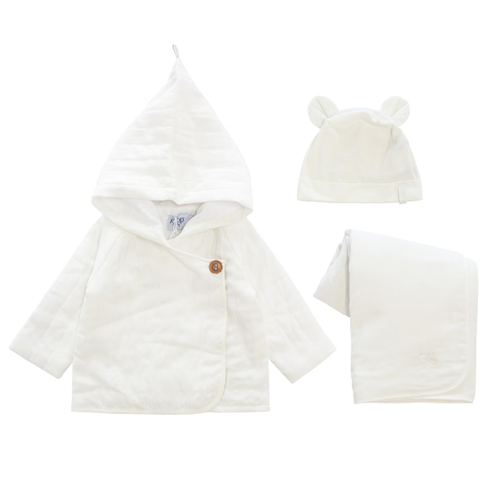 Kipp White Quilted Jacket Set