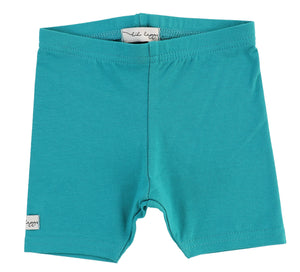 LIL LEGS TEAL COTTON SHORTS