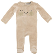 Load image into Gallery viewer, SMALL MOMENTS BEIGE FACE VELOUR RIBBED STRETCHIE