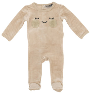 SMALL MOMENTS BEIGE FACE VELOUR RIBBED STRETCHIE