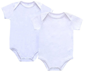 Petit Clair Baby Basic White Bodysuit