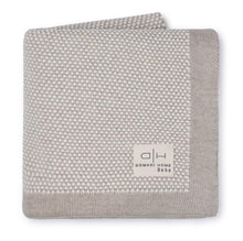 Load image into Gallery viewer, DOMANI HOME BEBE STIPPLE LIGHT BEIGE BLANKET