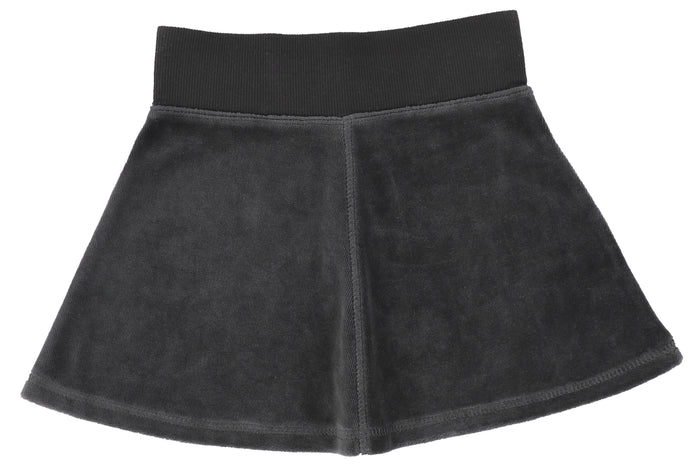 ANALOGIE By LIL LEGS GREY VELOUR SKIRT