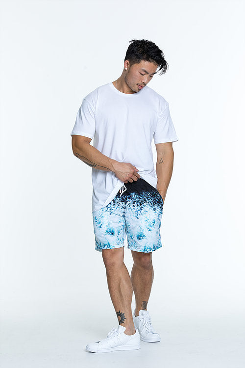 Whitewash designer swim shorts for men