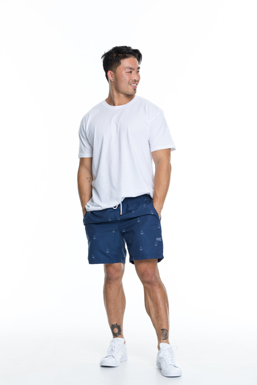 Navy signature swim shorts for men