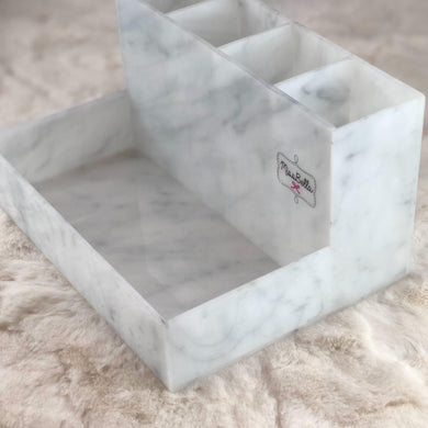 Marble Tray and Brush Holder