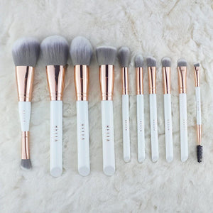 Miss Bella 10PC Bella Brush White with Pouch