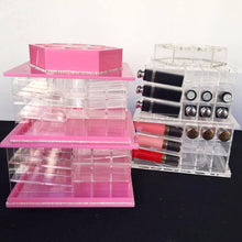 Rotating Lipstick & Liquid Lipstick Holder Clear