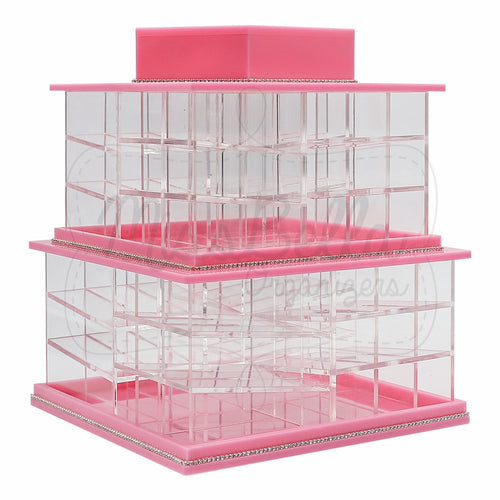 Rotating Lipstick & Liquid Lipstick Holder Pink