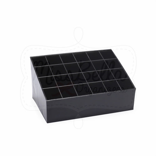Lipstick Holder 24 Slots Black