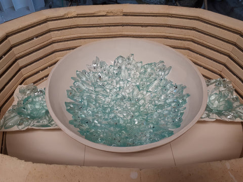 Hanscomb Glass Kiln Photo Glass Bowl in the Making