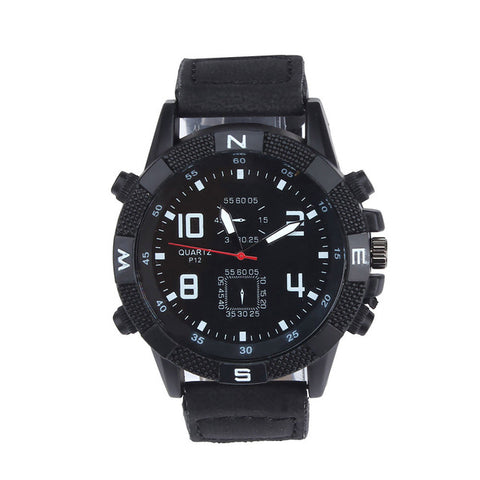 Casual Clocks Promotions Wristwatch Luxury Men's Canvas strap Large Dial Military Sport Quartz Wrist Watch High Quality Unisex - FainWatch