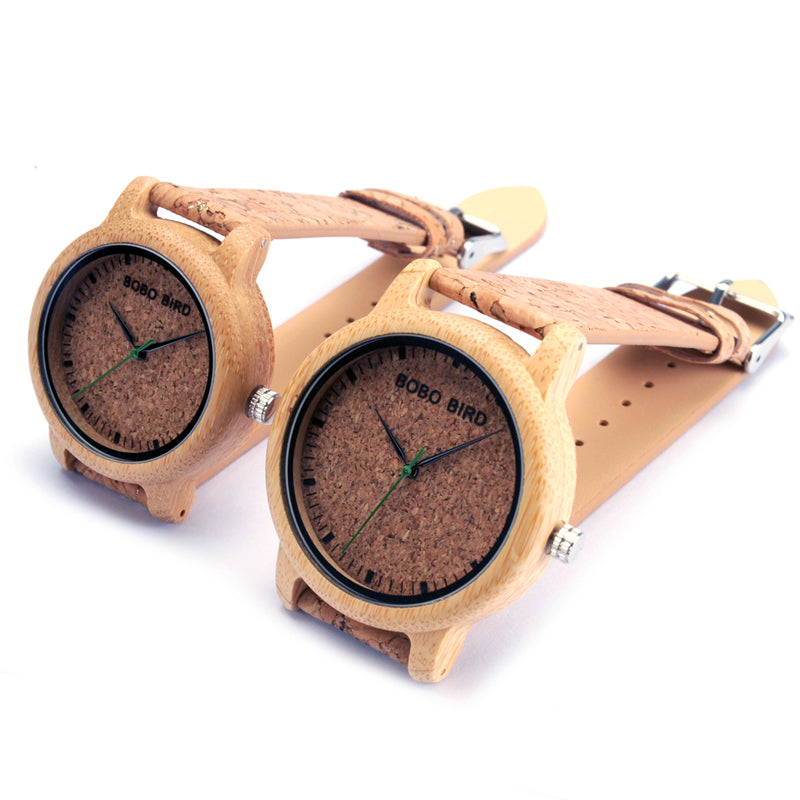 BOBO BIRD M12 Bamboo Wood Quartz Watch For Men And Women Wristwatches Top Brand Luxury With Japan Movement As Gift - FainWatch