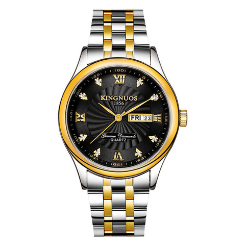 Gold Quartz Watch Men Top Brand Luxury Famous Golden Stainless Steel Wrist Watch Male Clock for Men Hodinky Relogio Masculino - FainWatch