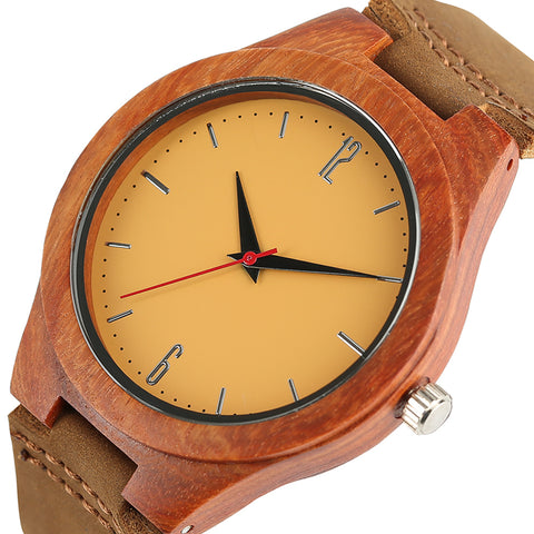 2017 Fashion Wood Watch Bamboo Bright Color Unisex Watches Genuine Sport Men's Women's Quartz Wristatches Nature Sandalwood Hour - FainWatch