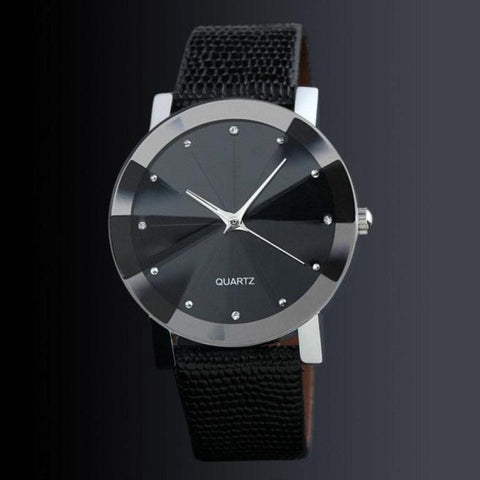 Wrist Watch Men 2017 Luxury Faux Leather Male Clock Quartz Watch Simple Desgin Quartz-watch Relogio Masculino - FainWatch