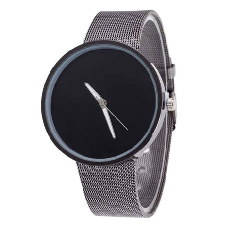 Unisex Mens Women Watches Luxury Sliver Steel Mesh Band Wrist Watch Men Brand Simpel Design Quartz Watch Womens Clock Reloj #N - FainWatch