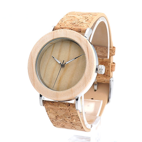 2017 37mm BOBO BIRD Wooden Watches Women Quartz Genuine Leather Strap Wristwatch as Gifts relogio feminino B-E21 - FainWatch