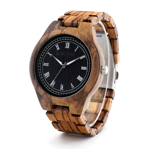 BOBO BIRD Wooden Watches Men Natural Wood Strap Handmade Japan Movement Quartz Wrist Watch Luxury Mens Gifts relogio masculino - FainWatch