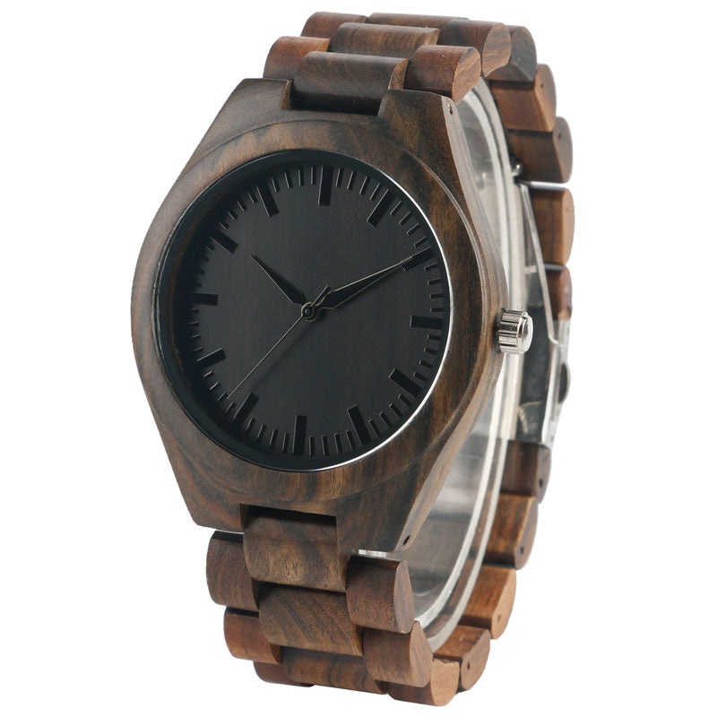 2017 Hot Wooden Watch Men Fashion Creative Watches Casual Wood Quartz Full Natural Wood Wristwatch Women Clock masculino Gift - FainWatch
