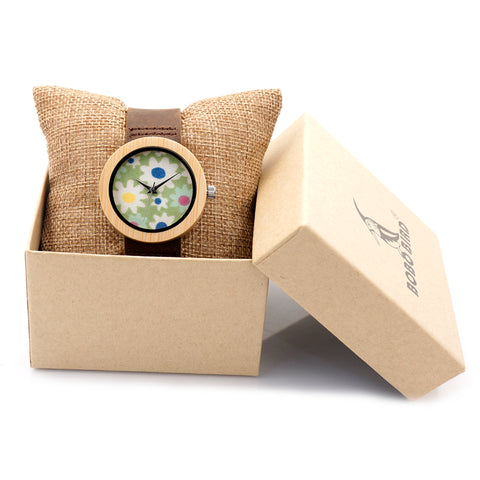 BOBO BIRD 37mm Women Ladies Wrist Watch Brand Bamboo Watch Sepcial Bracelet Quartz Watch Women's Watches Wooden montre femme - FainWatch