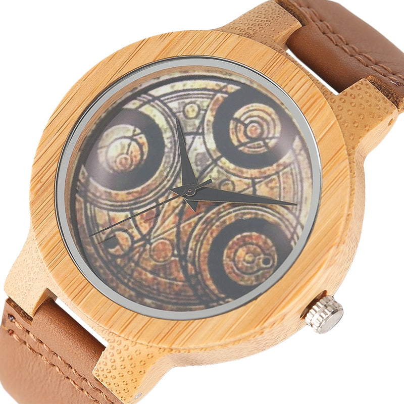 Top Dome Dr Doctor Who Design Wooden Watches Unisex Couple Quarzt-watch Fashion Handmade Creative Bamboo Female Male Clock 2017 - FainWatch