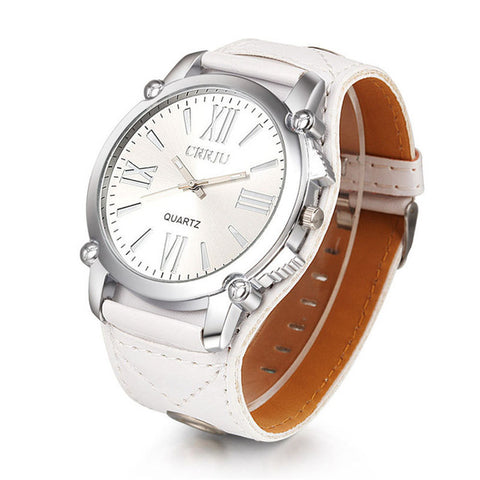 Men Watches Women Montre Femme High Quality 1PC  Luxury Unisex Analog Roman Big Dial Quartz Sport Leather Wrist  Dropshipping 4* - FainWatch