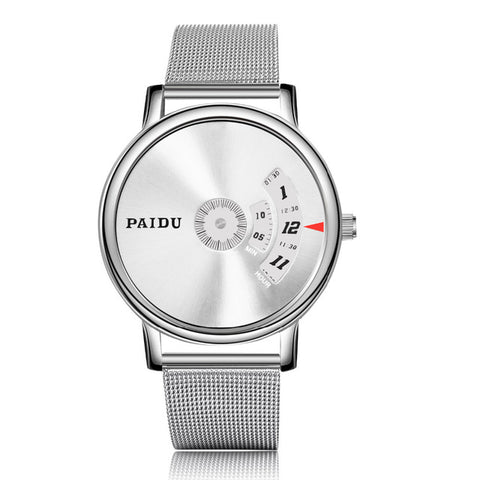 PAIDU Full Steel Watch Fashion Special Design Luxury Men Watches Unisex Wristwatch Male Clock relojes relogio masculino saat - FainWatch