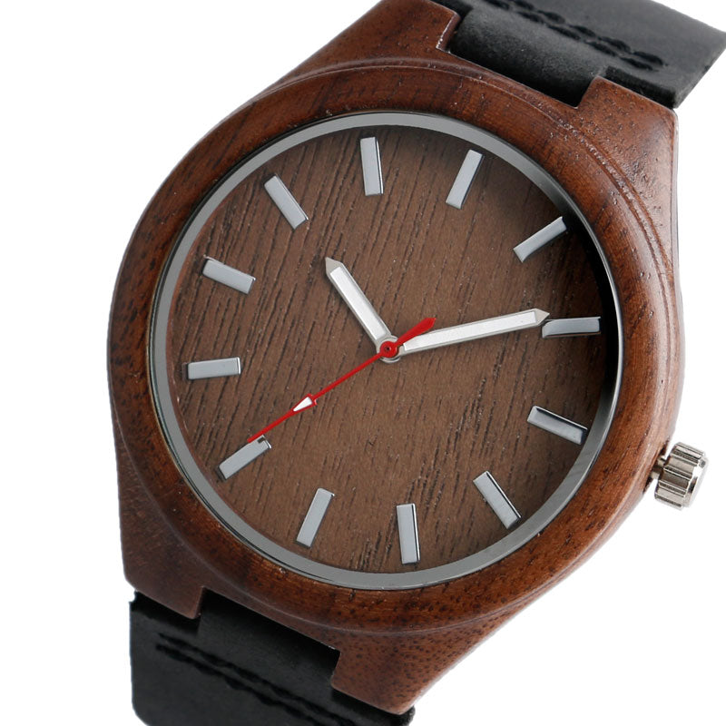 Cool Watch Designs Nature Wood Watches Novel Wooden Wristwatch Simple Bamboo Genuine Leather Strap Mens Womens Unisex Relojes - FainWatch