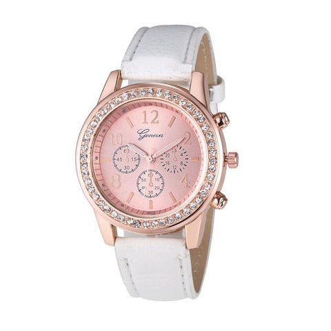 Watch Women Fashion Roman Numerals Quartz wristwatches Dial Watches Women's Luxury Brand Leather High Quality Exquisite 4* - FainWatch