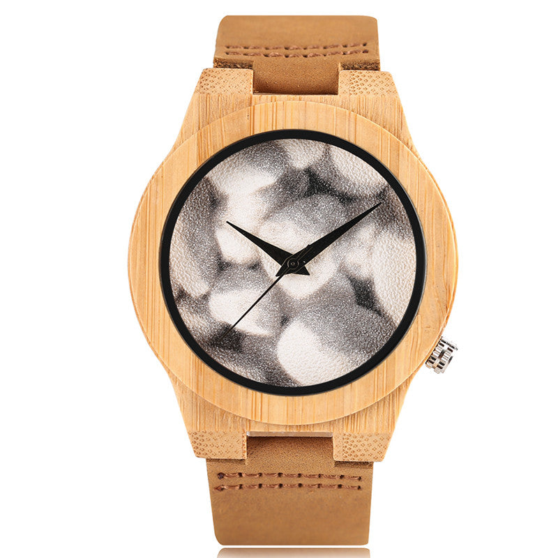 2017 Best Gifts Luxury Mens Watches Casual Special Rock Dial Creative Unisex Wooden Wrist Watch Fashion Bamboo Relogio Masculino - FainWatch
