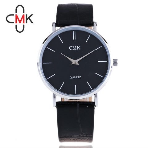 High quality luxury genuine ultra-thin lover's watch simple business retro fashion classic men and women leather strap watch - FainWatch
